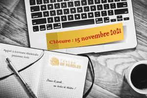 Appel à écriture théâtrale jeunesse 2021 - Textes En Paroles